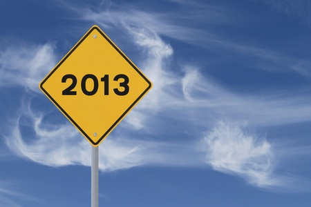 New Year Road Sign  photo