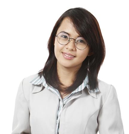 Een jonge vrouwelijke professionele lachend naar de camera Stockfoto - 16880653