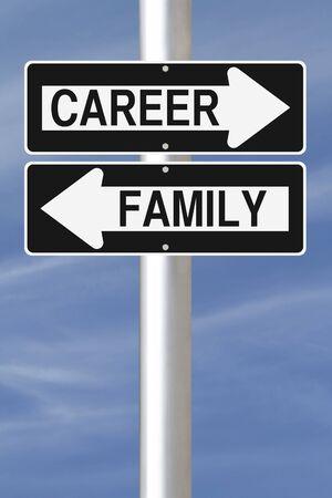 Conceptuele eenrichtingsverkeer borden op balanceren persoonlijke en professionele leven