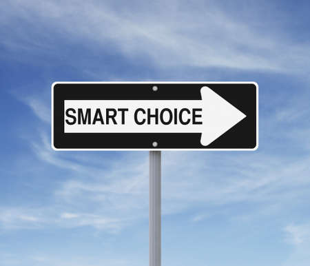 A modified one way sign on decisions or choices  photo