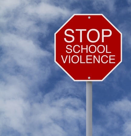 A conceptual stop sign on school violence  Stock Photo - 19080508