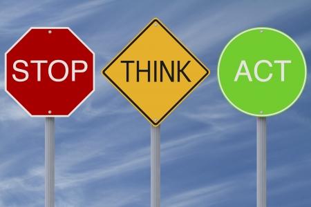 slogan: Signos de carretera colorido modificado con un mensaje de seguridad