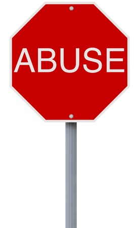 A conceptual stop sign indicating Abuse  photo