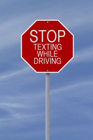 road safety: A modified stop sign on road safety  Stock Photo
