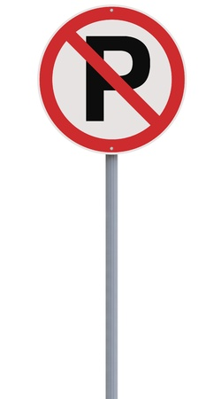no parking: A no parking sign isolated