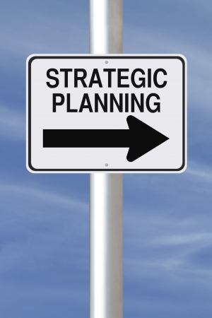 strategic planning: A modified one way street sign indicating Strategic Planning  Stock Photo