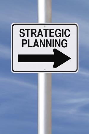 planificacion estrategica: A una forma de se�al de tr�fico que indica modificada Planificaci�n Estrat�gica Foto de archivo
