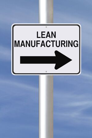 strategic advantage: A modified one way street sign on the concept of Lean Manufacturing  Stock Photo