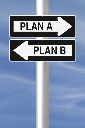Modified one way signs on planning options  photo