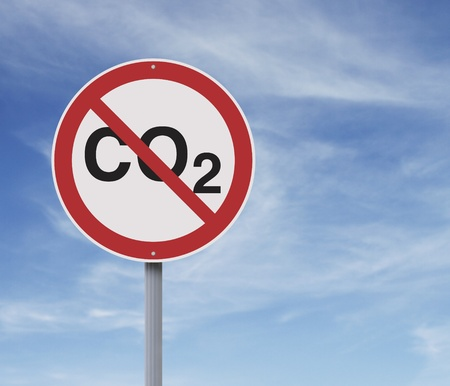 emission: A conceptual road sign on environmental awareness