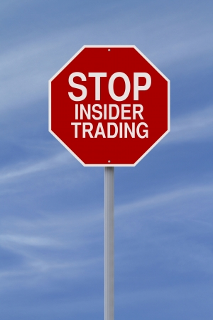unethical: A modified stop sign on Insider Trading