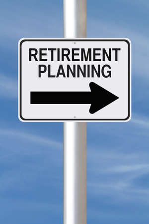 A modified one way street sign on Retirement Planning  photo