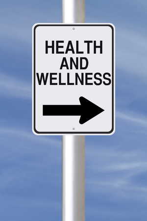 A modified one way street sign on Health and Wellness  photo