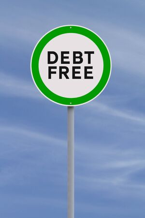 A conceptual road sign on freedom from debt  Stock Photo - 22536866