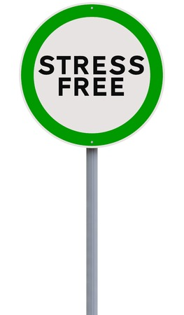 A conceptual road sign on freedom from stress  photo