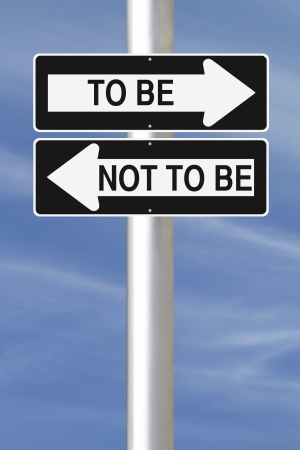 decision  making: Conceptual one way road signs on decision making
