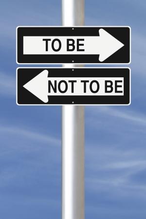 toma de decision: Ida y se�ales de tr�fico conceptual sobre la toma de decisiones