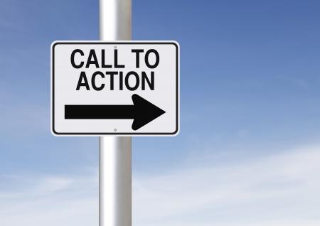 アクションへの呼び出しを示す方法の 1 つの道路標識の変更