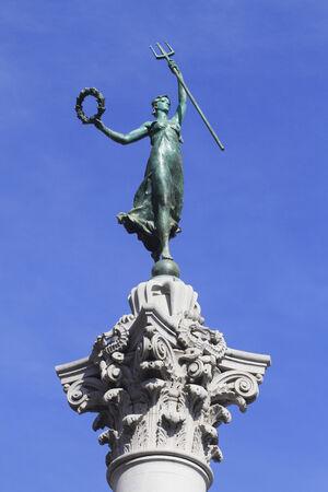 dewey: Dea della statua della Vittoria di Union Square a San Francisco, California