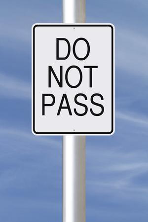 no pase: Una señal de tráfico que indica no aprueben