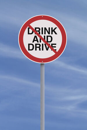 Modified road warning sign on drinking and driving  photo