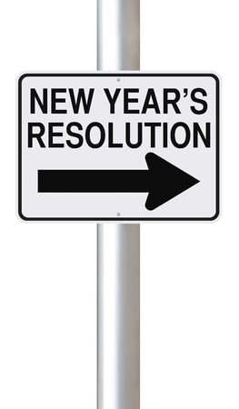 new direction: A road sign indicating New Year s Resolution