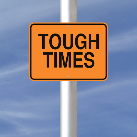 tough times: A road sign indicating Tough Times  Stock Photo