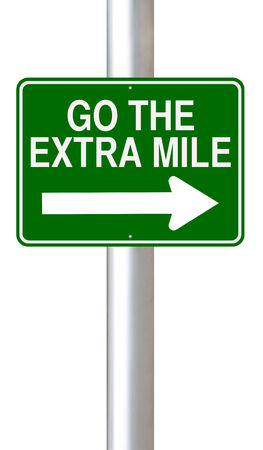expectations: A road sign indicating Go the Extra Mile