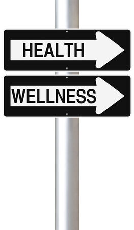 Modified one way street signs on Health and Wellness  photo