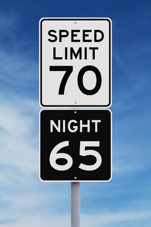 limits: Daytime and nighttime speed limit signs