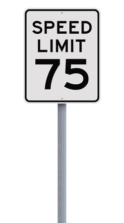 seventy: Un segno limite di velocit� che indica settantacinque