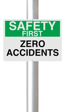 eslogan: Un signo destacando la importancia de la seguridad