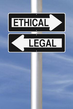 etica: Conceptual de ida signos sobre la ética y la ley