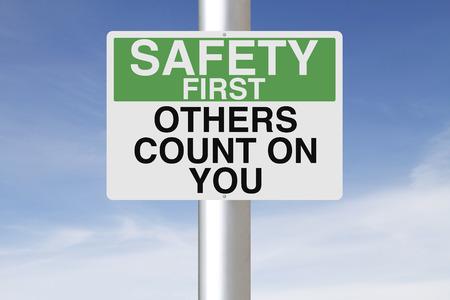 安全リマインダーと記号 写真素材