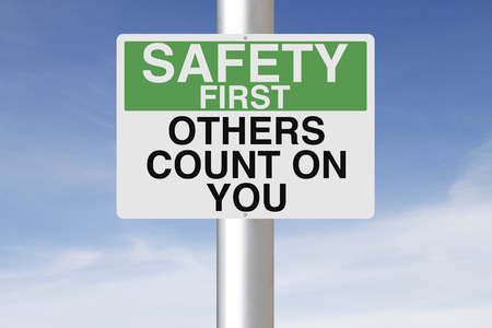 A sign with a safety reminder  photo