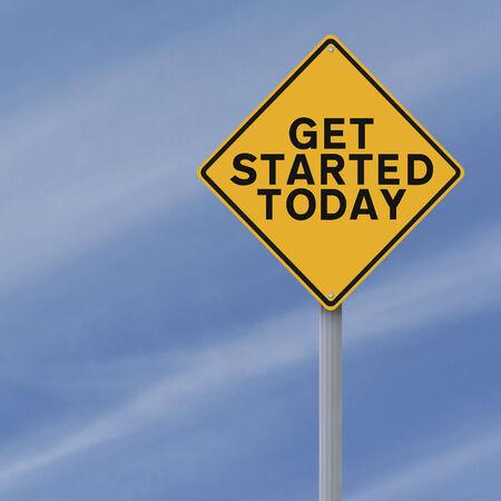 Een aangepast verkeersbord aangeeft slag Vandaag Stockfoto - 26512470