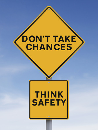 Modified road sign with a safety reminder Stock Photo - 27832566
