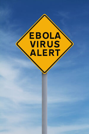 A road sign warning of an Ebola Virus Alert