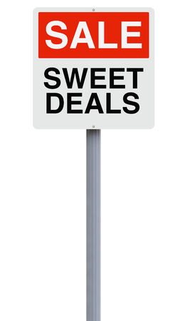 freebie: A sign announcing a sales promotion