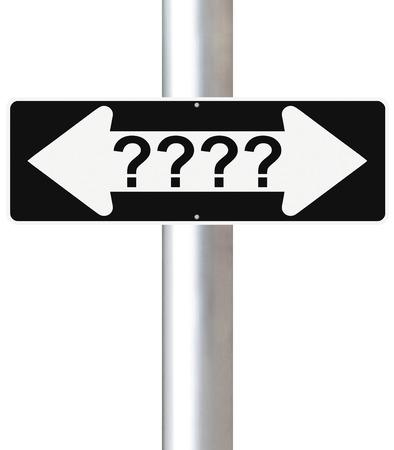 toma de decision: Un signo de una forma modificada de la toma de decisiones