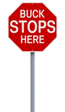 A modified stop sign with an idiomatic expression Stock Photo - 30078448