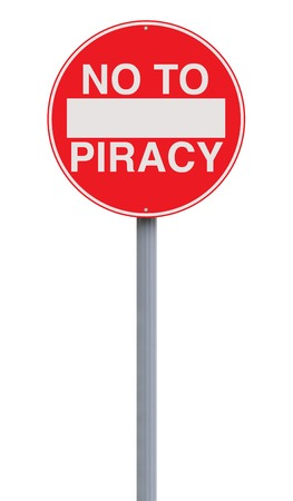 piracy: A modified no entry sign on piracy