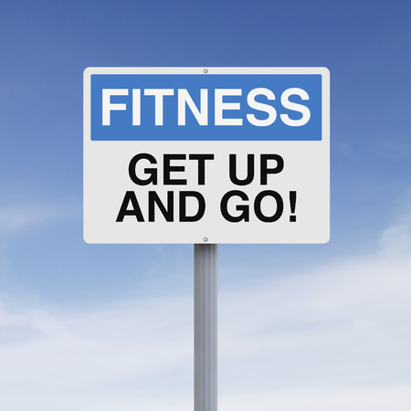 A conceptual sign on fitness photo