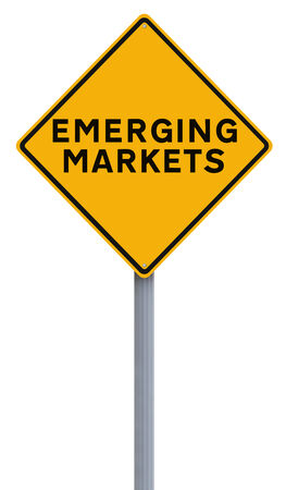 emerging markets: A conceptual road sign indicating Emerging Markets