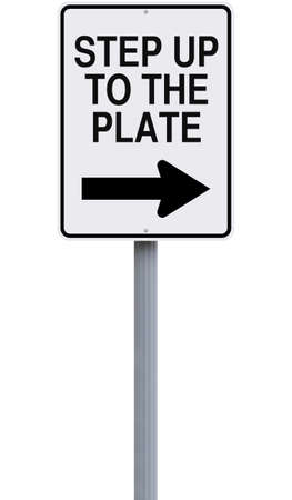 A modified road sign indicating an idiomatic expression photo