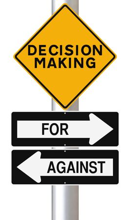 decision  making: Modified road signs on decision making