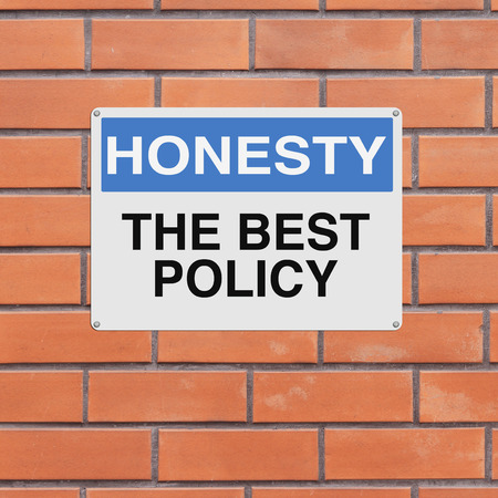 A modified notice sign on Honesty photo