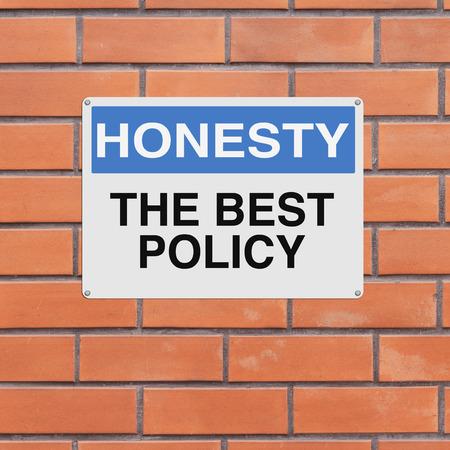 honestidad: Una señal de aviso modificado en Honestidad