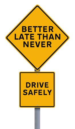 safe driving: A modified road sign on safe driving Stock Photo