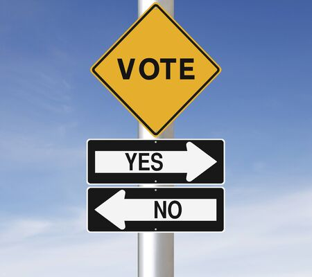voting decision: Modified road signs on election or referendum